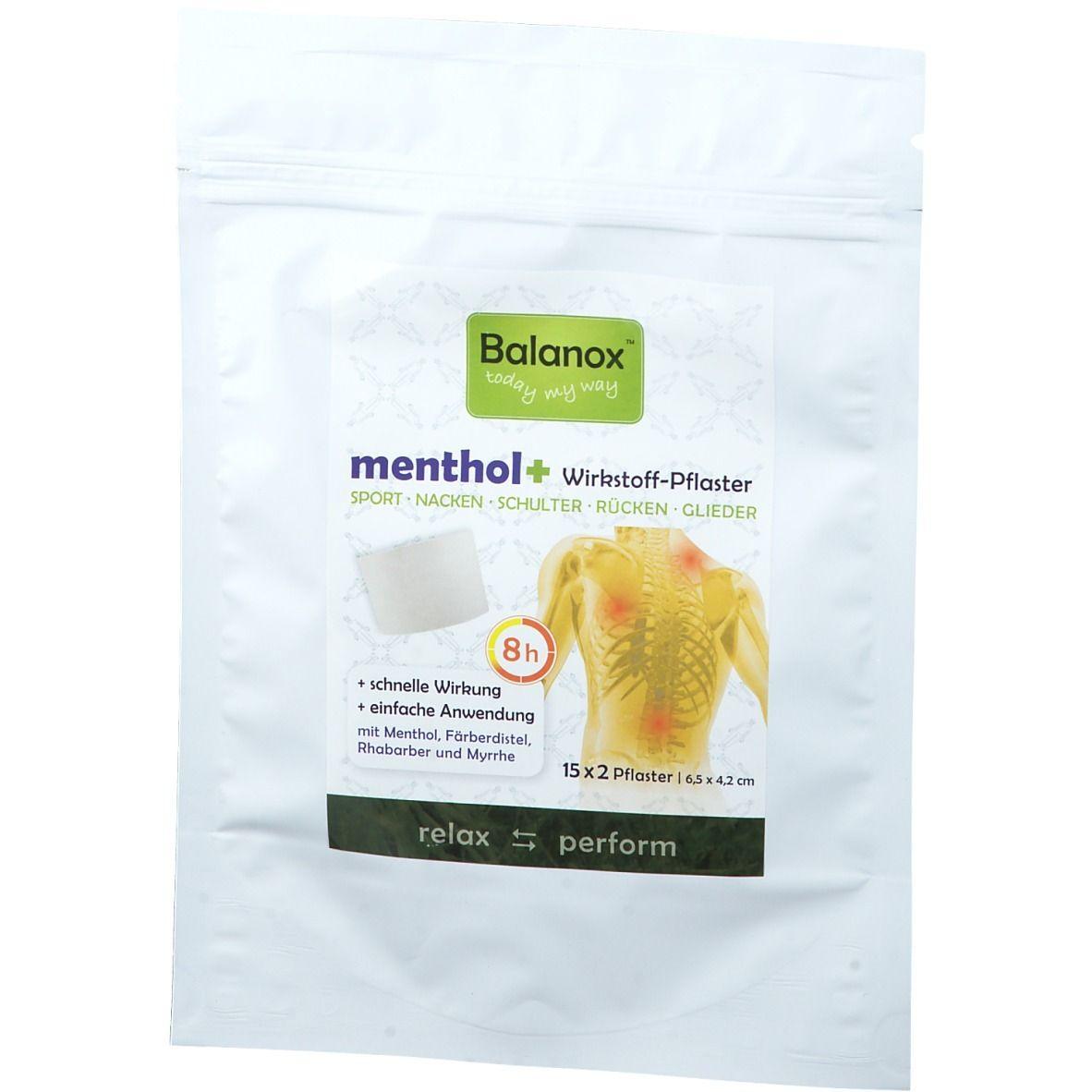 Image of Balanox™ menthol+ Wirktstoff-Pflaster
