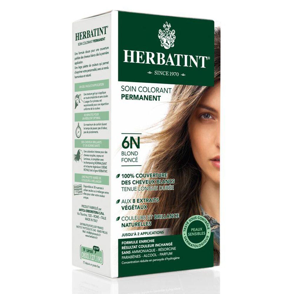Image of HERBATINT® 6N dunkel blond permanent Haar Coloration