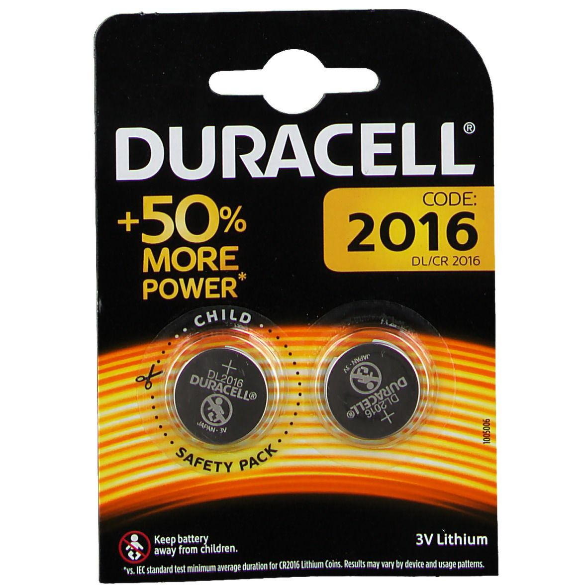 Image of DURACELL® Lithium Knopfzelle 2016