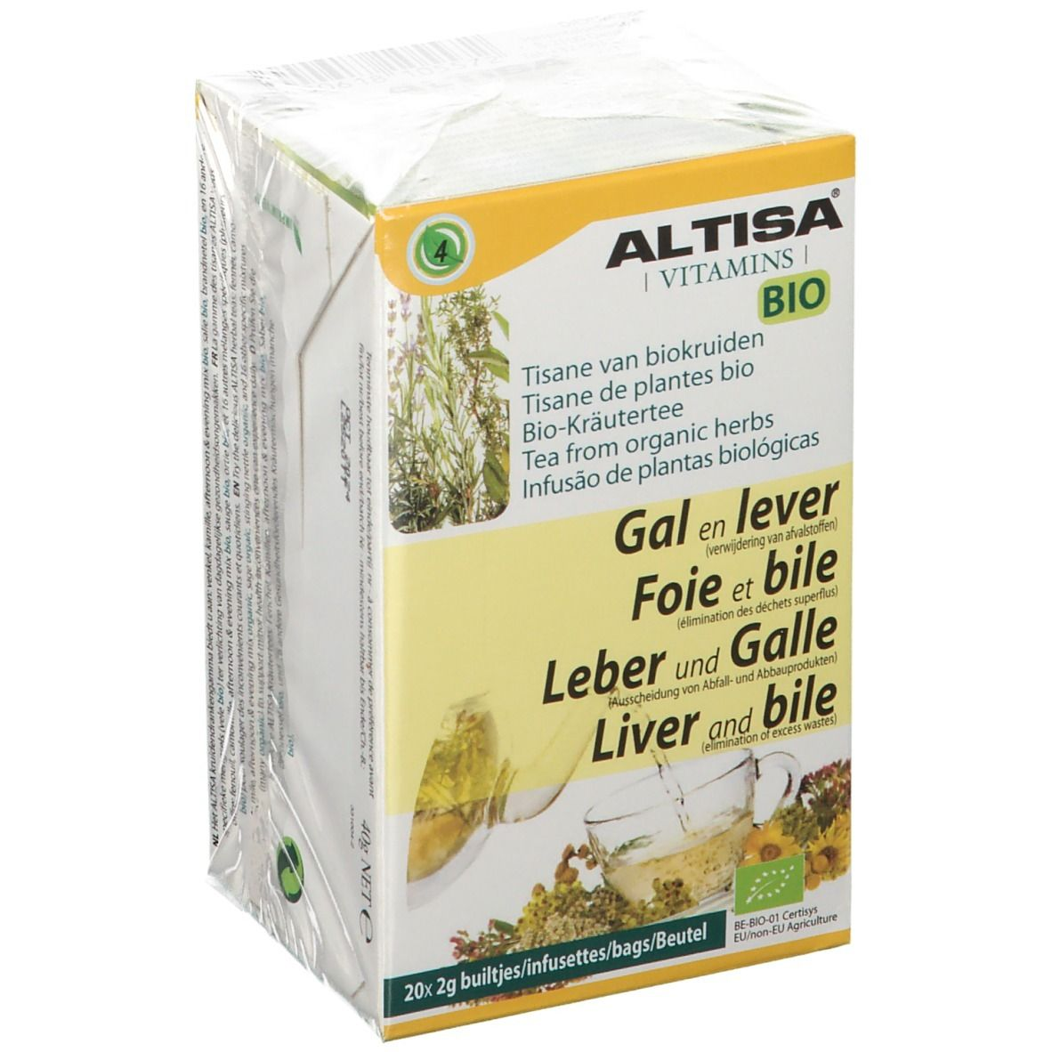 Image of ALTISA® BIO Kräutertee Leber & Galle