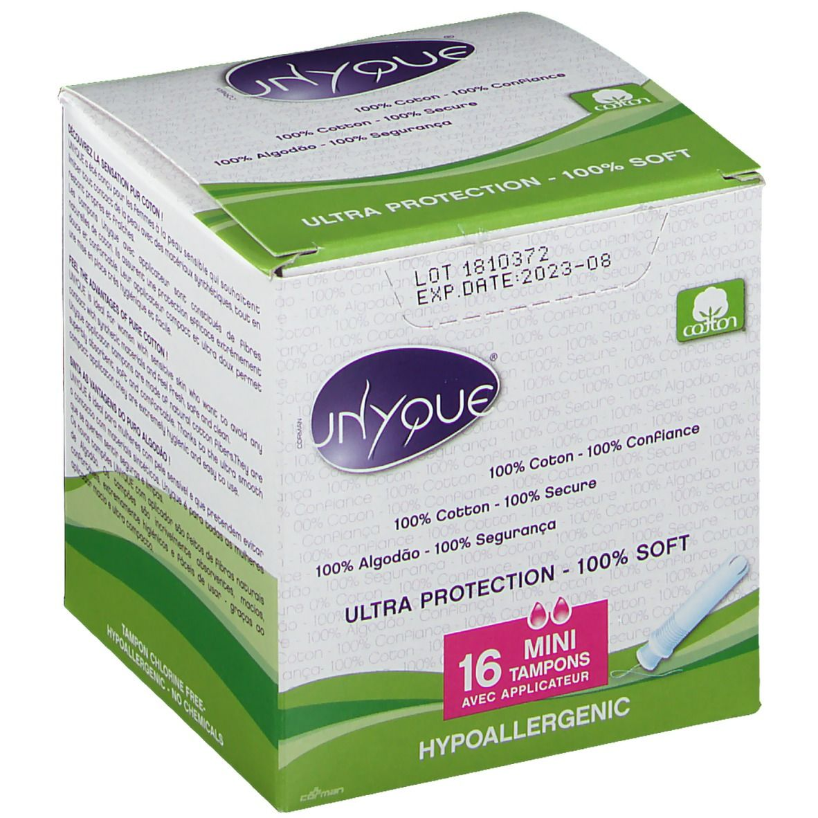 UNYQUE® Ultra Protection Mini Tampons mit Applikator