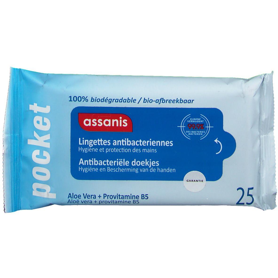 Image of assanis antibakterielle Feuchttücher Reisegröße