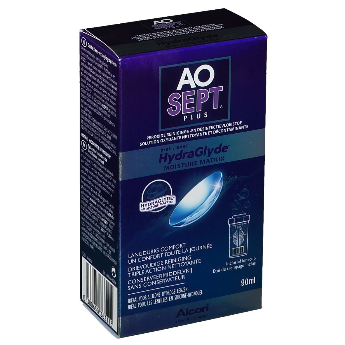 Image of Aosept Plus mit HydraClyde + Kontaktlinsenbehälter