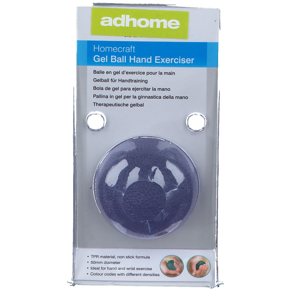 Image of Adhome Homecraft Übungsgel-Kugel für die Hand blau 5 cm