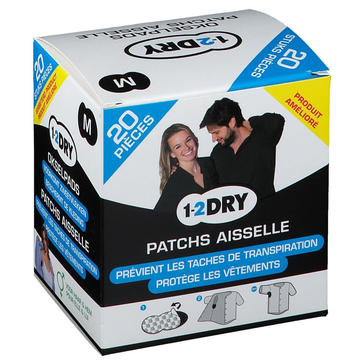 Image of 1-2DRY Patches Aiselle Dark Medium P2-BX-MD