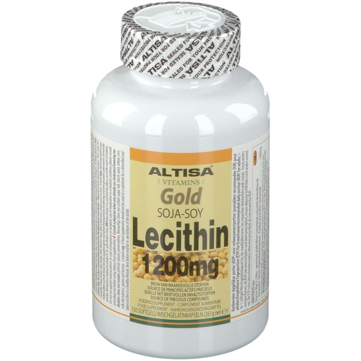 Image of ALTISA® Lecithin Gold Sojalecithin 1200 mg