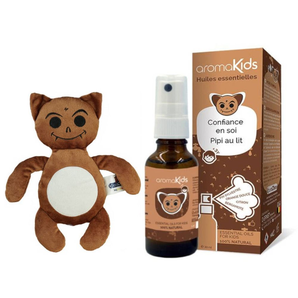 Image of aromaKids essentielles Öl für Kinder Selbstvertrauen und Bettnässe +3 Jahre + Teddy Plüschtier