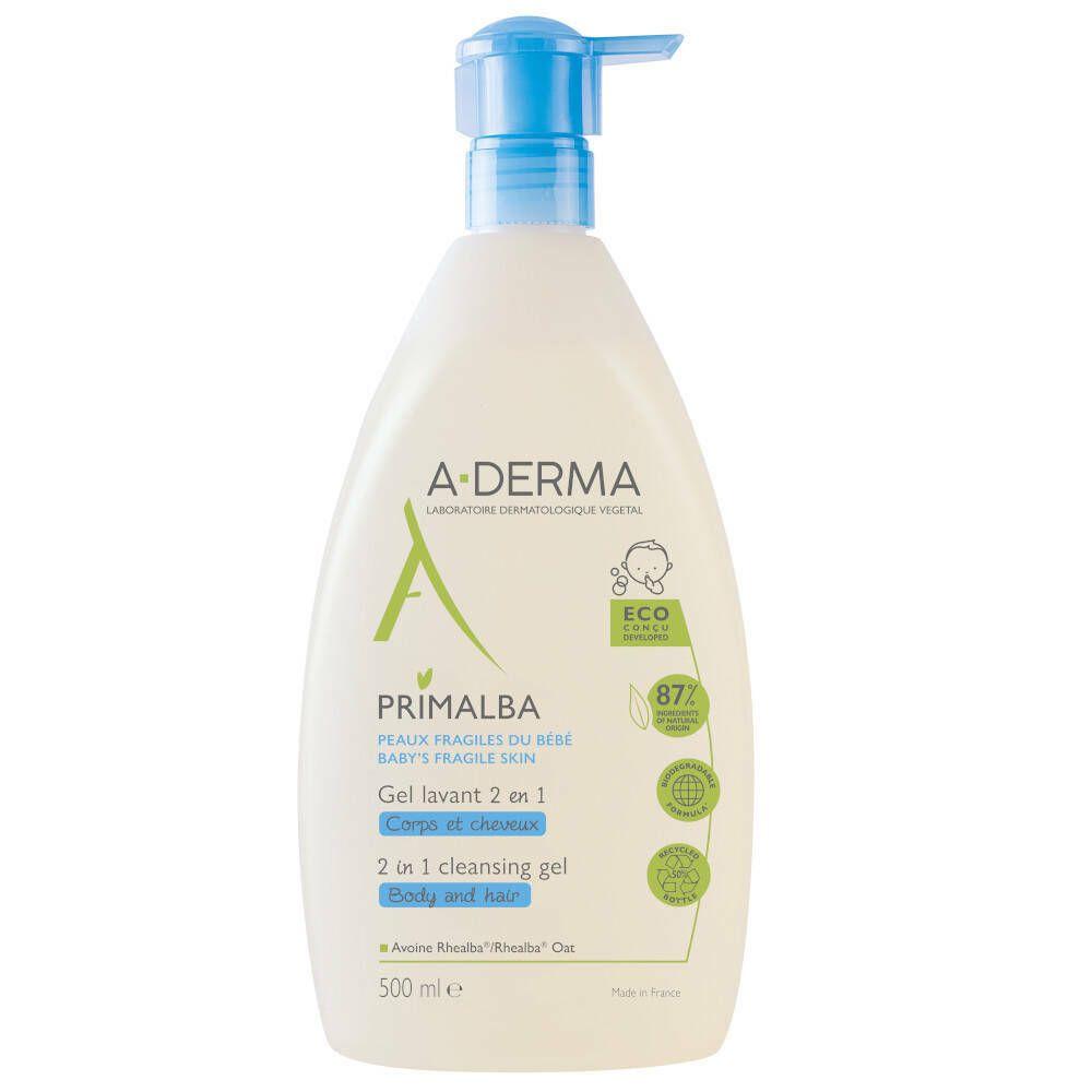 Image of A-Derma Baby Primalba Mildes Waschgel 2 in 1 Körper und Haare