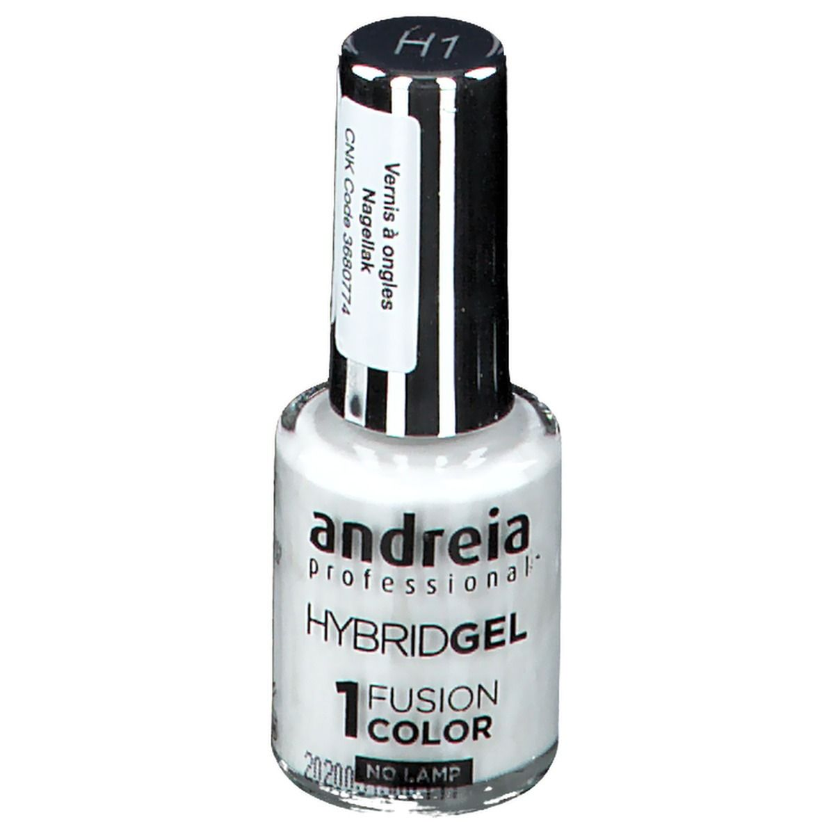 Image of Andreia Hybrid Nagellack Gel Fusion Color H1 Schneewittchen