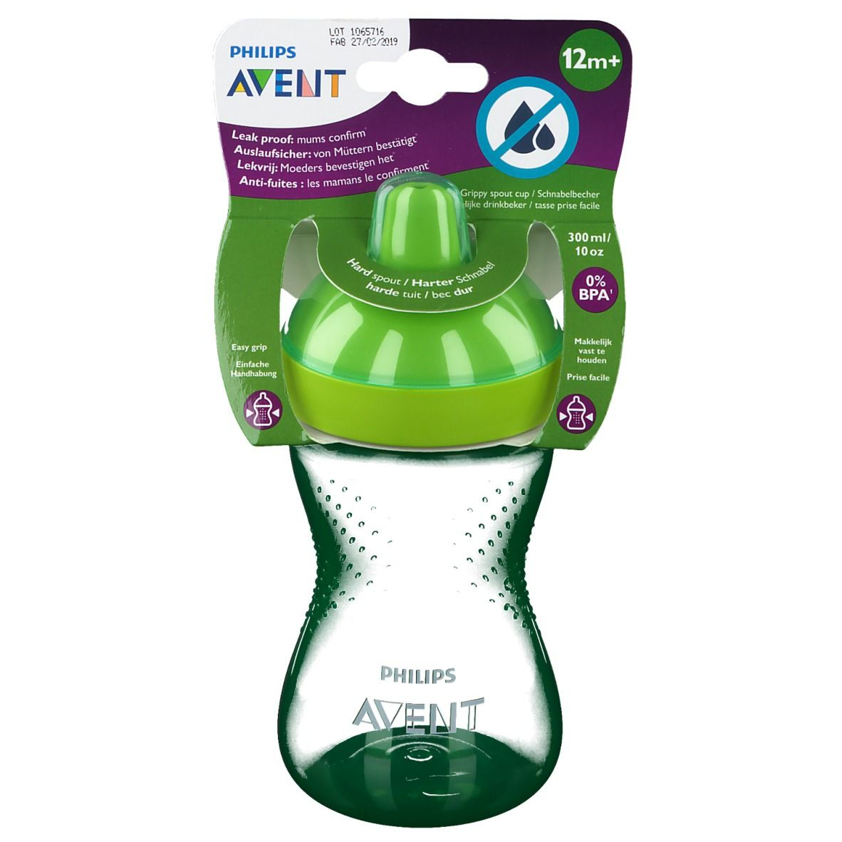 Image of Avent Hard Boiled Cup Green 300 ml +12 Monate