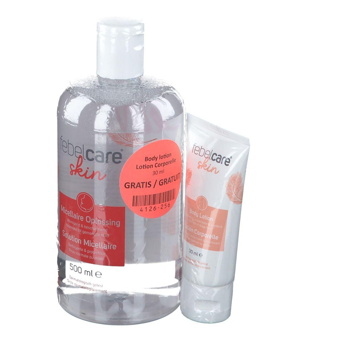 Image of febelcare® skin Bpdylotion und Mizellenreinigungslösung