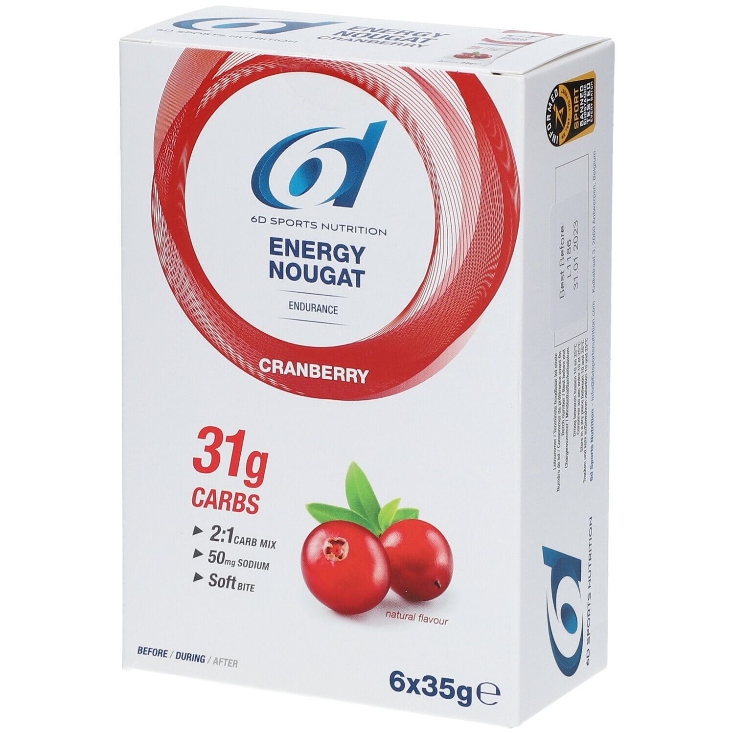 Image of 6D Sports Nutrition Energie Nougat-Cranberry