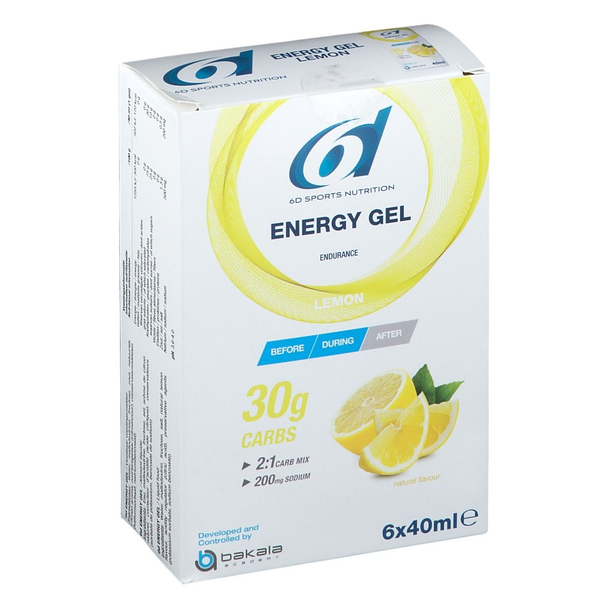 Image of 6D Sports Nutrition Energy Gel Zitrone