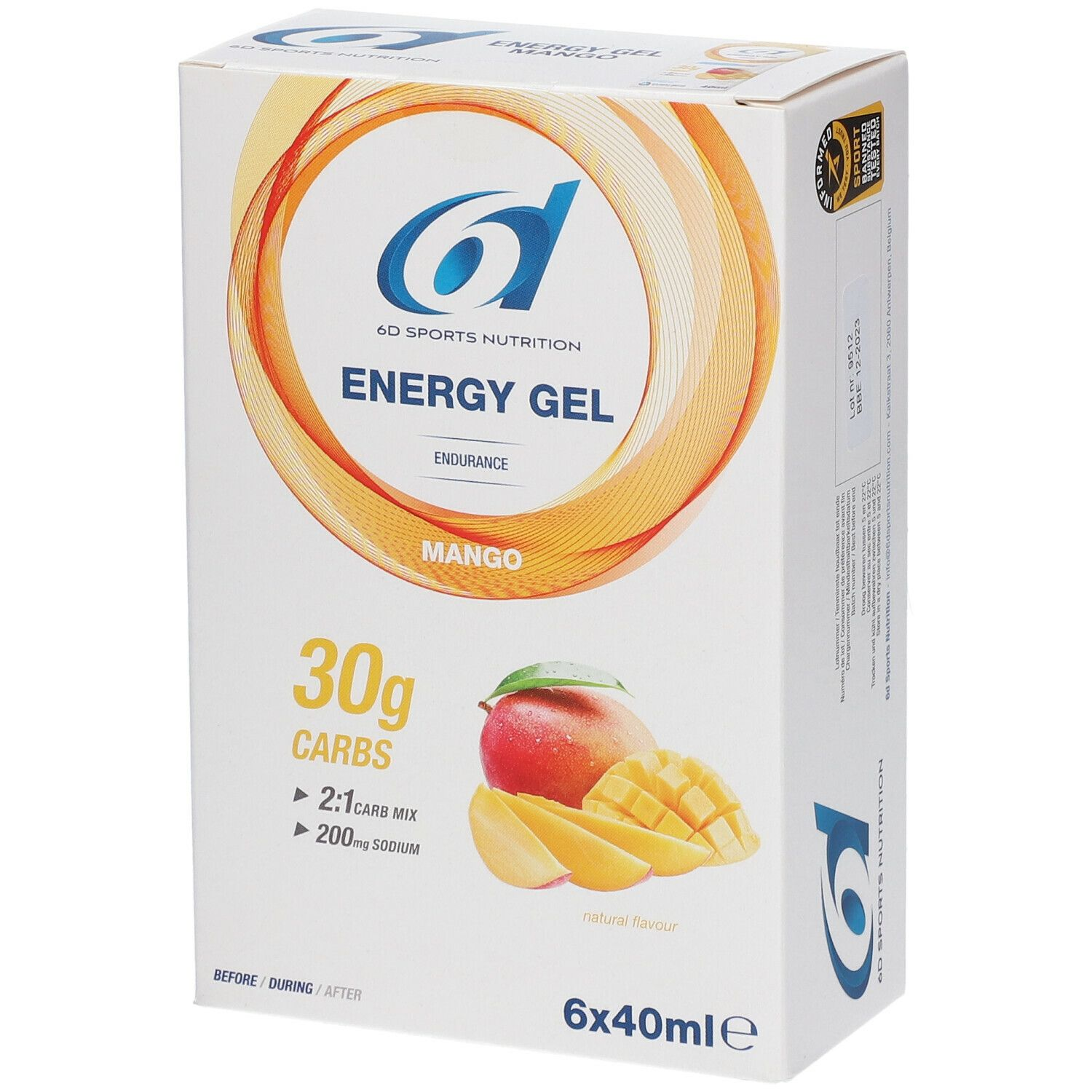 Image of 6D Sports Nutrition Energy Gel Mango