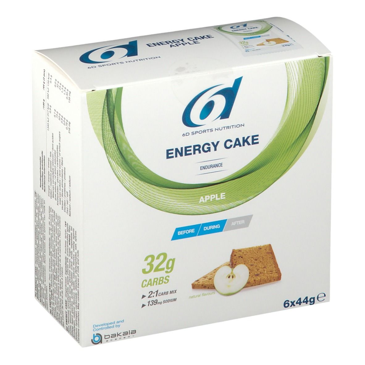 Image of 6D Sports Nutrition Energy Cake Apfel