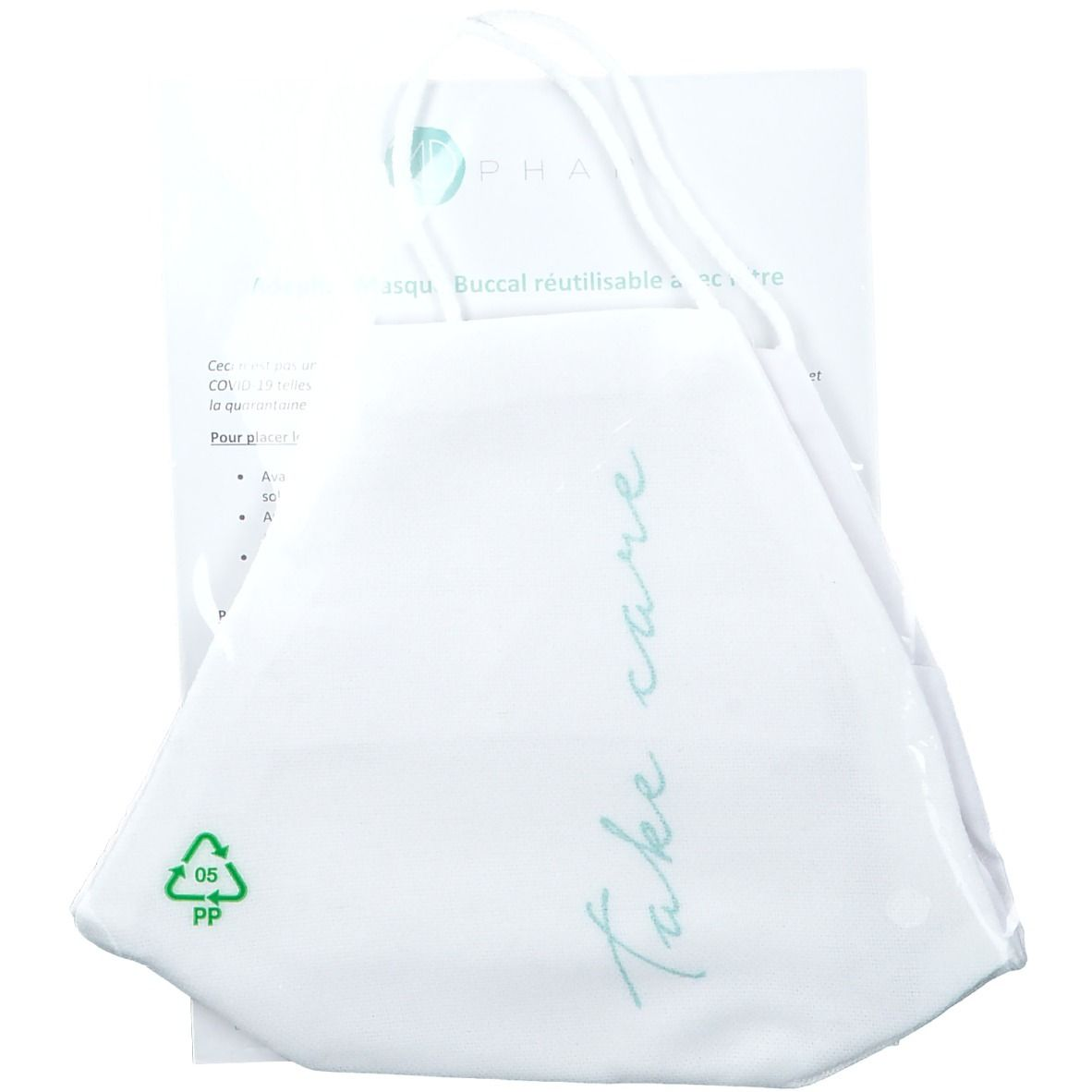 Image of Wiederverwendbare Adephar-Mundmaske mit auswaschbarem Filter Erwachsene