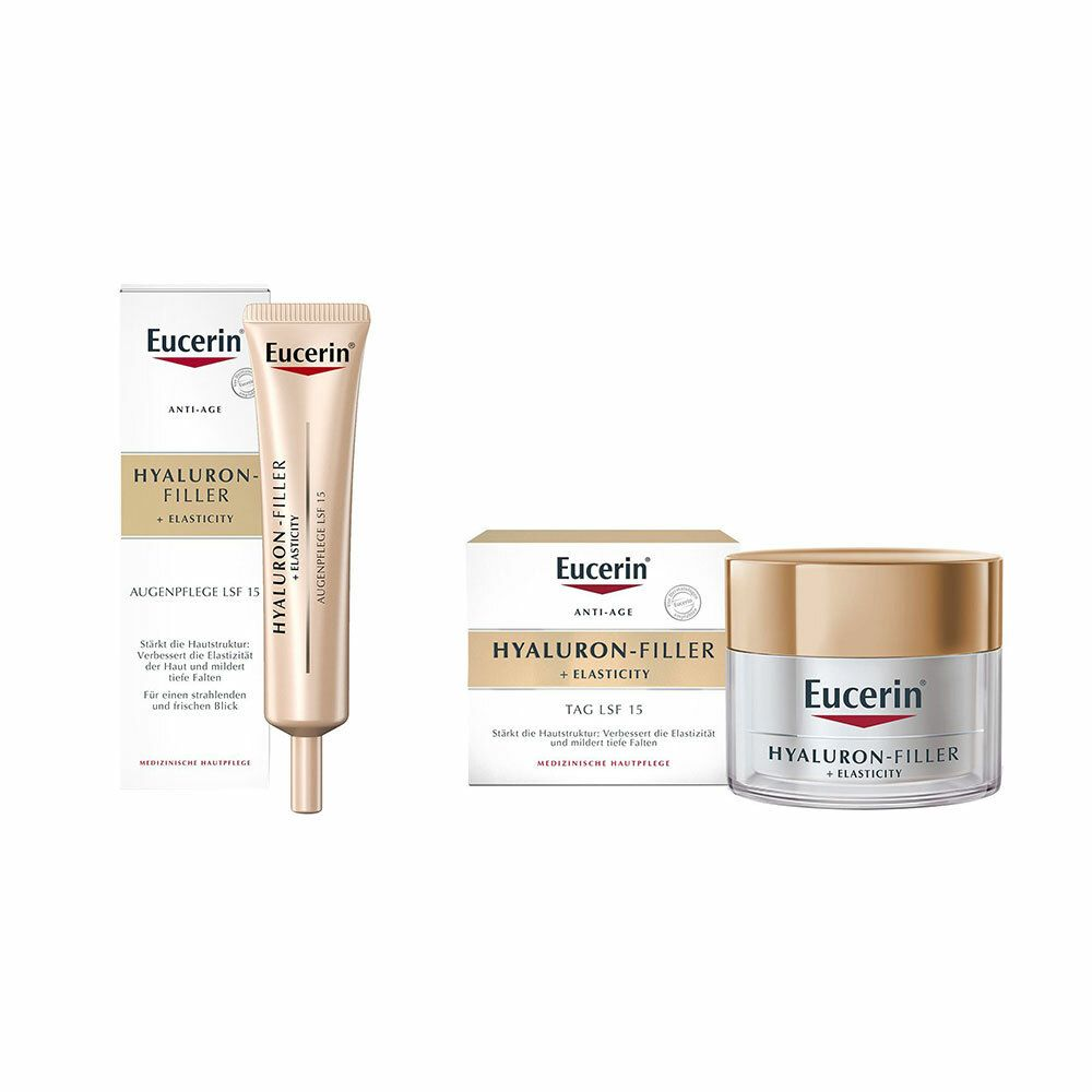 Image of Eucerin® Hyaluron-Filler + Elasticity Tagespflege + Eucerin® Hyaluron-Filler + Elasticity Augenpflege