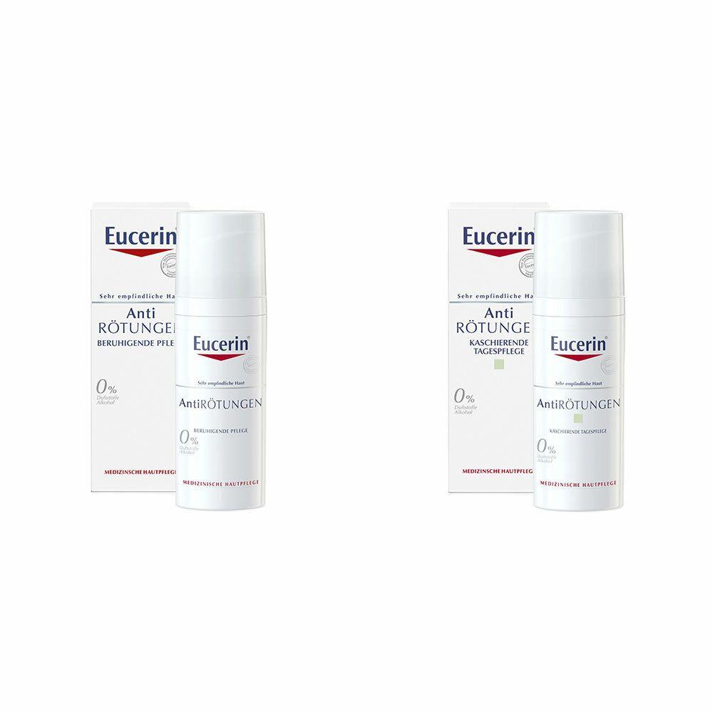 Image of Eucerin® AntiRötungen kaschierende Tagespflege + Eucerin® AntiRötungen beruhigende Tagespflege