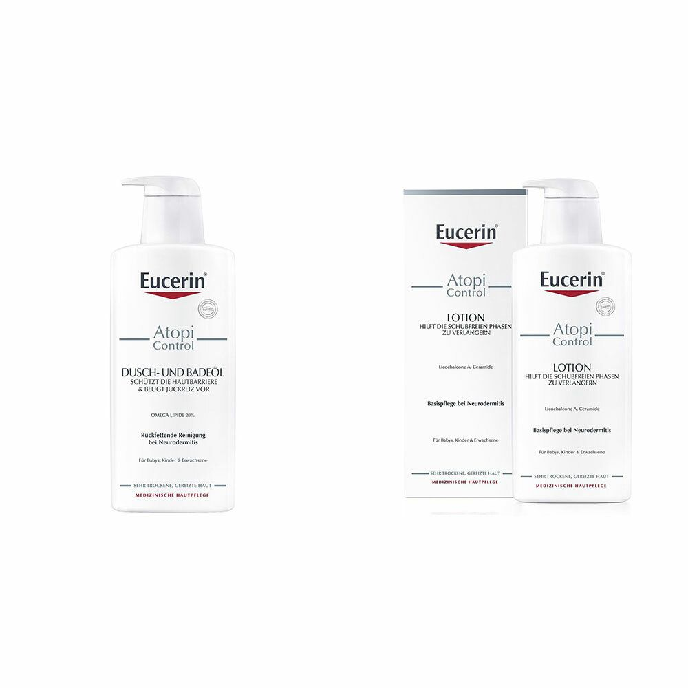 Image of Eucerin® AtopiControl Lotion + Eucerin® AtopControl Dusch- und Badeöl