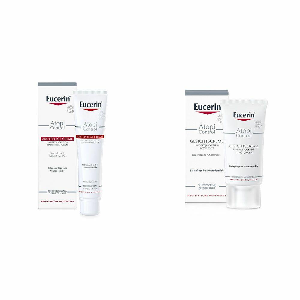 Image of Eucerin® AtopiControl Akutpflege Creme + Eucerin® AtopiContrl Gesichtscreme