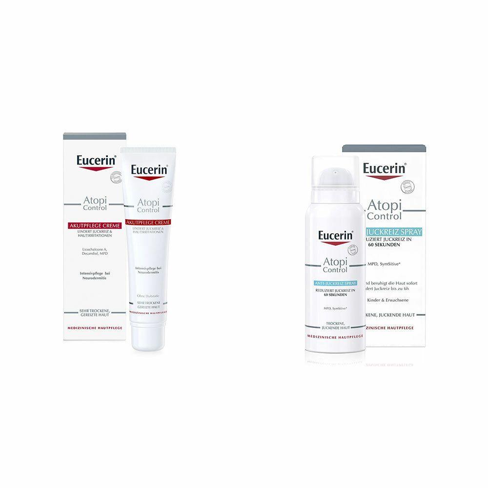 Image of Eucerin® AtopiControl Akutpflege Creme + Eucerin® AtopiControl Anti-Juckreiz Spray