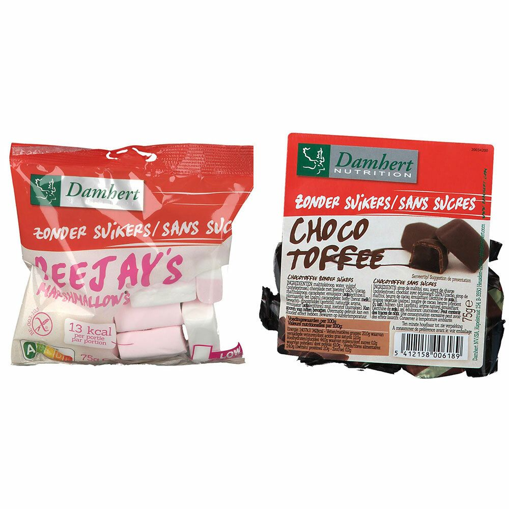 Image of Damhert PeeJay´s Marshmallows ohne Zucker + Choco Toffee