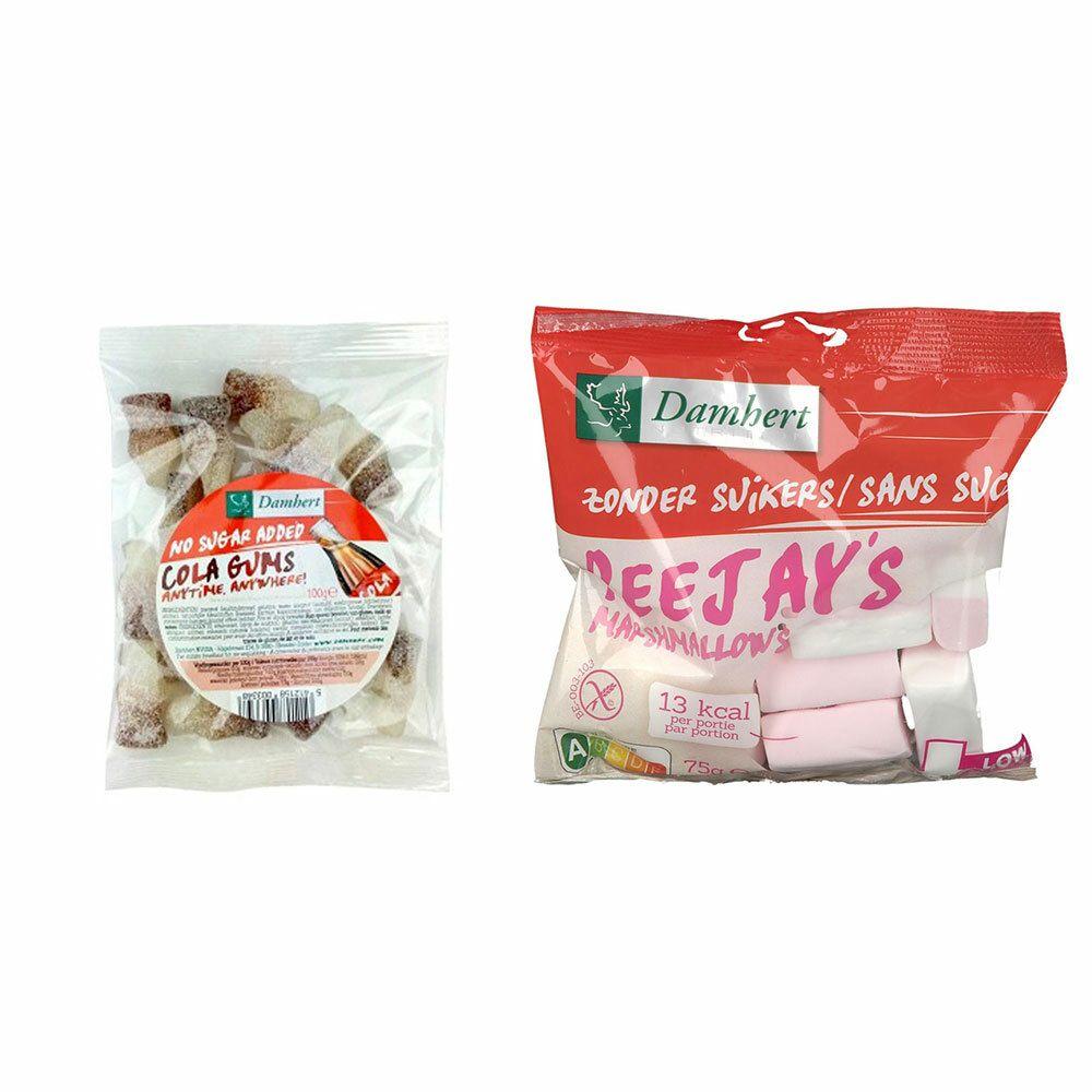 Image of Damhert PeeJay´s Marshmallows ohne Zucker + Colafläschchen ohne Zucker
