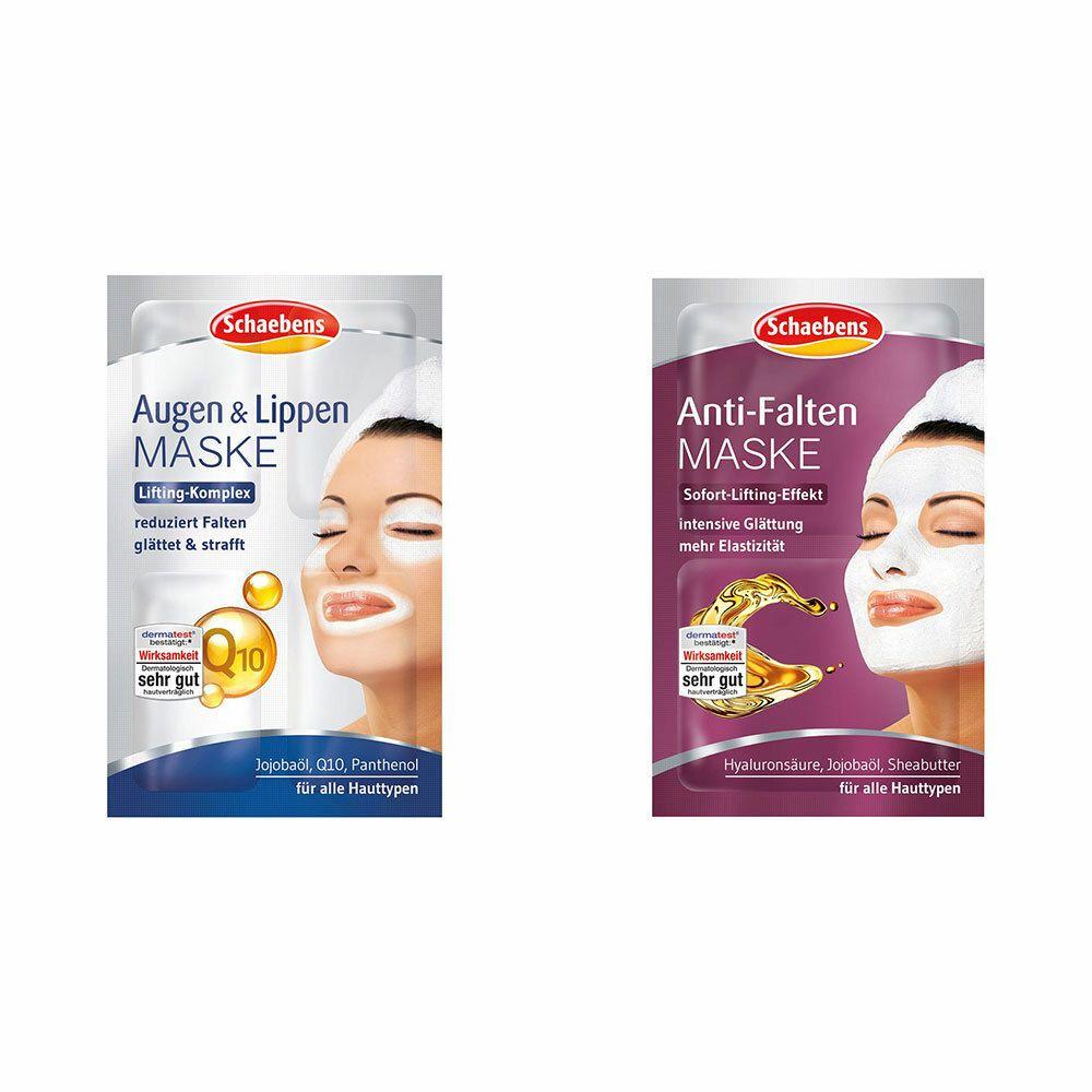 Image of Schaebens Anti-Falten Maske + Schaebens Augen & Lippen Maske