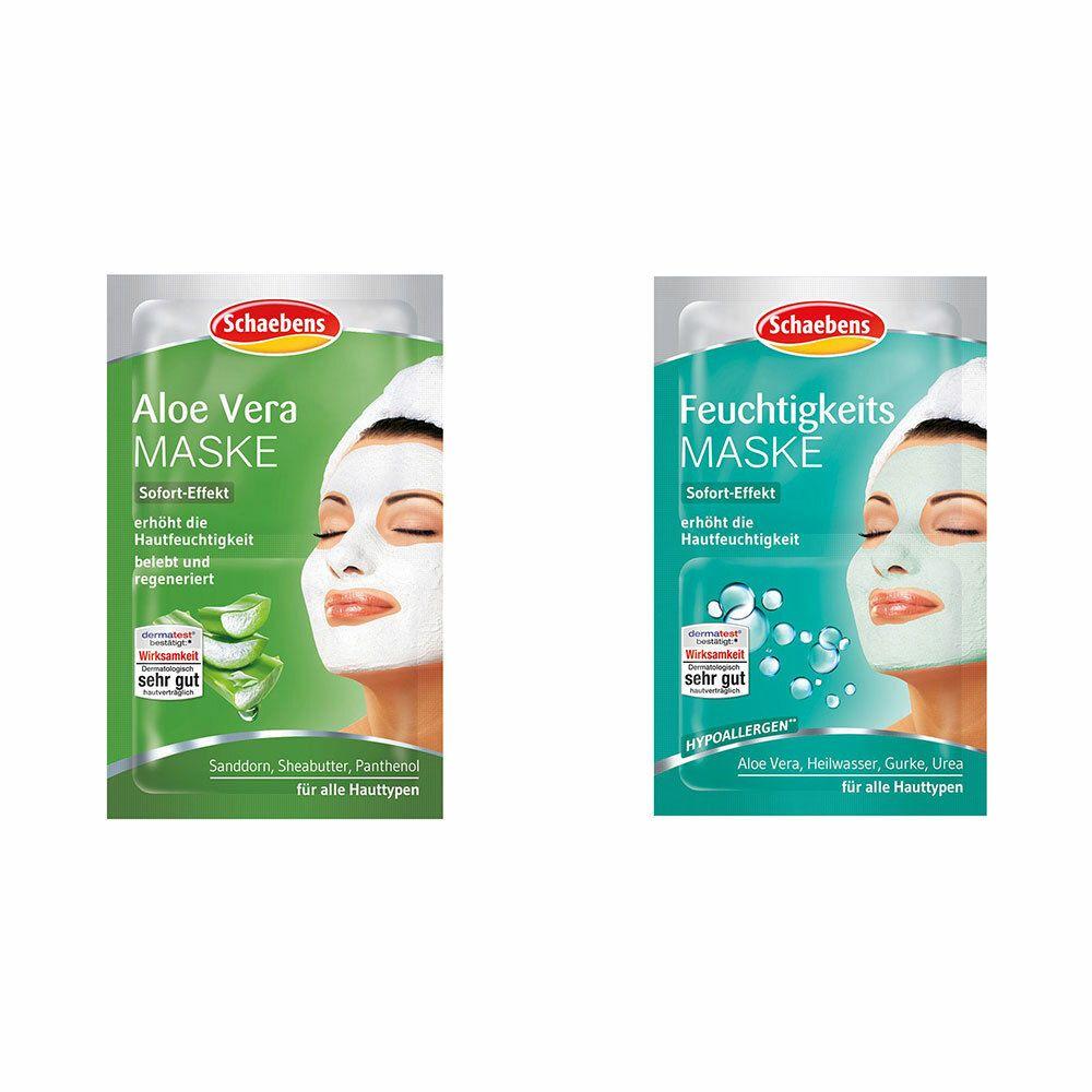 Image of Schaebens Aloe Vera Maske + Schaebens Feuchtigkeits Maske