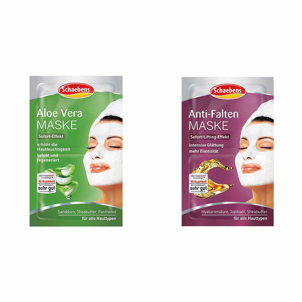 Image of Schaebens Aloe Vera Maske + Schaebens Anti-Falten Maske