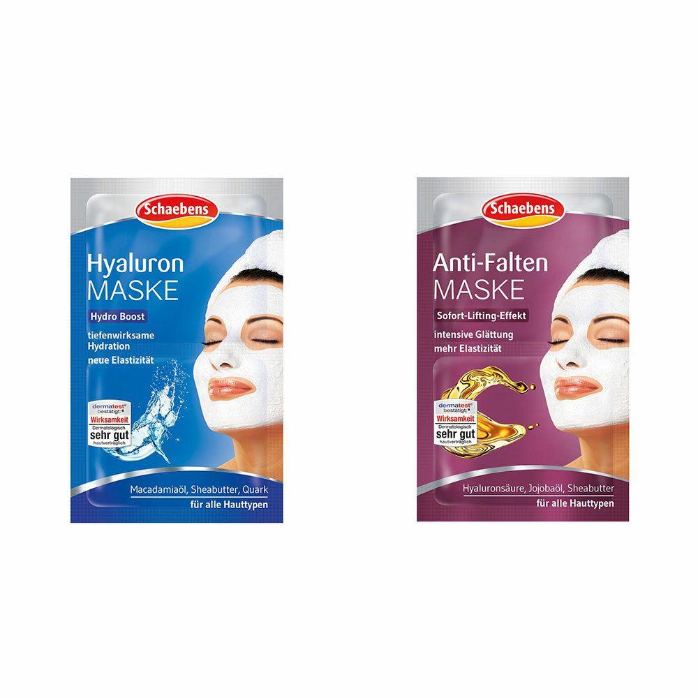 Image of Schaebens Anti-Falten Maske + Schaebens Hyaluron Maske