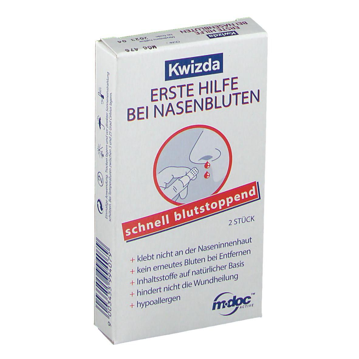 Image of Kwizda Nasenstöpsel Erste Hilfe bei Nasenbluten