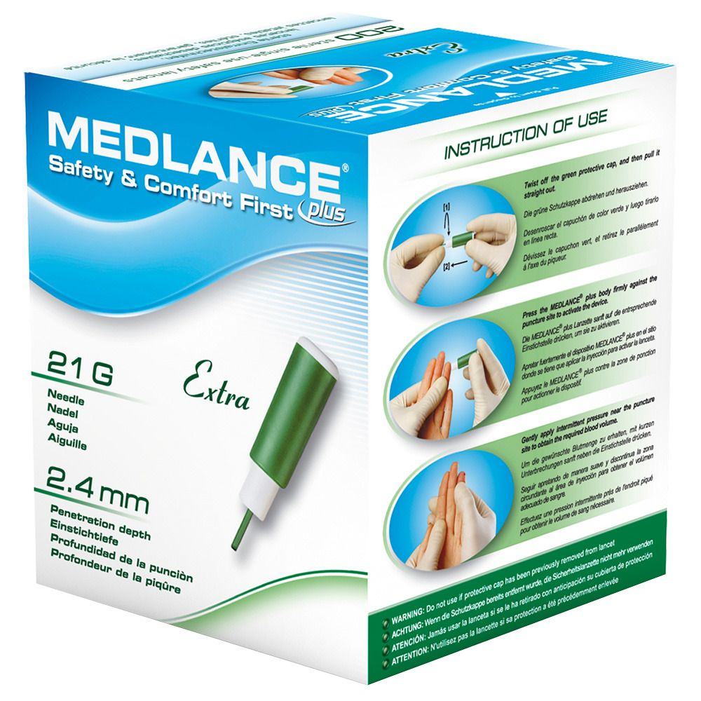 Image of MEDLANCE® plus Extra Sicherheitslanzetten 21 G