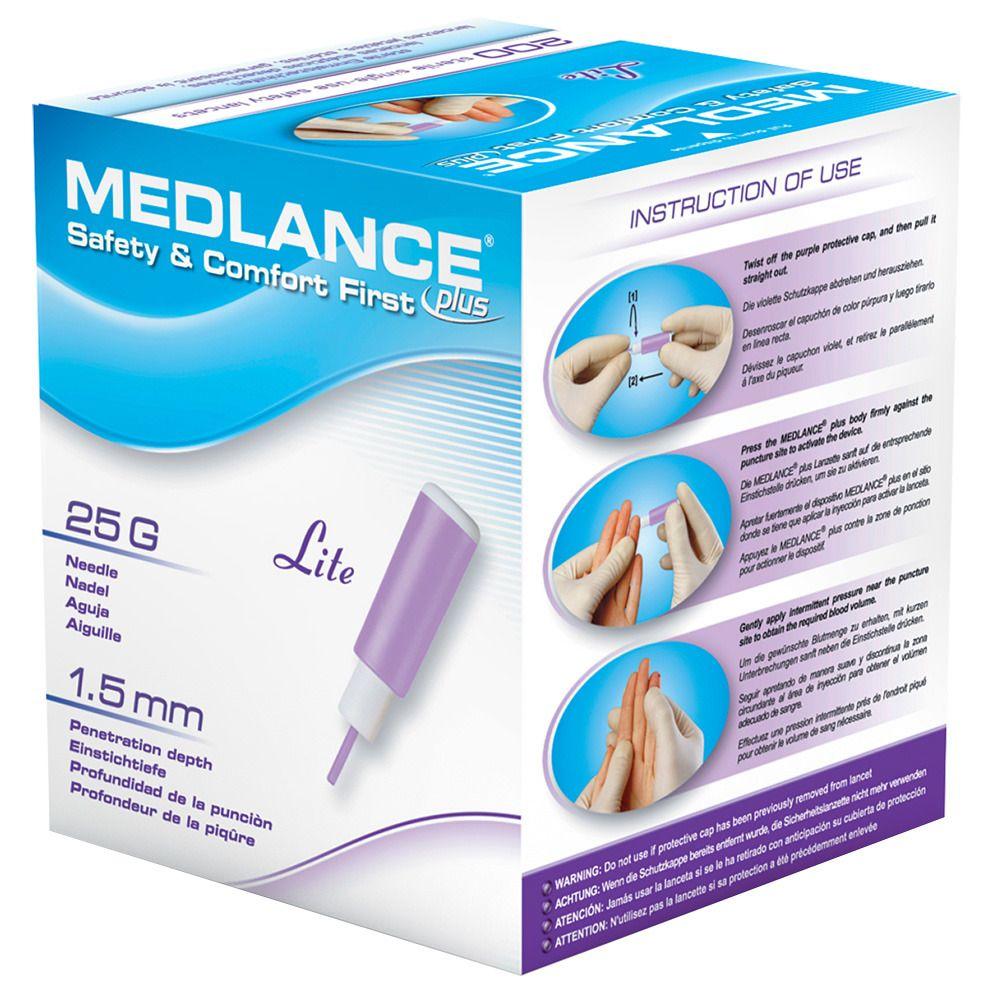 Image of MEDLANCE® plus Lite Sicherheitslanzetten 25 G