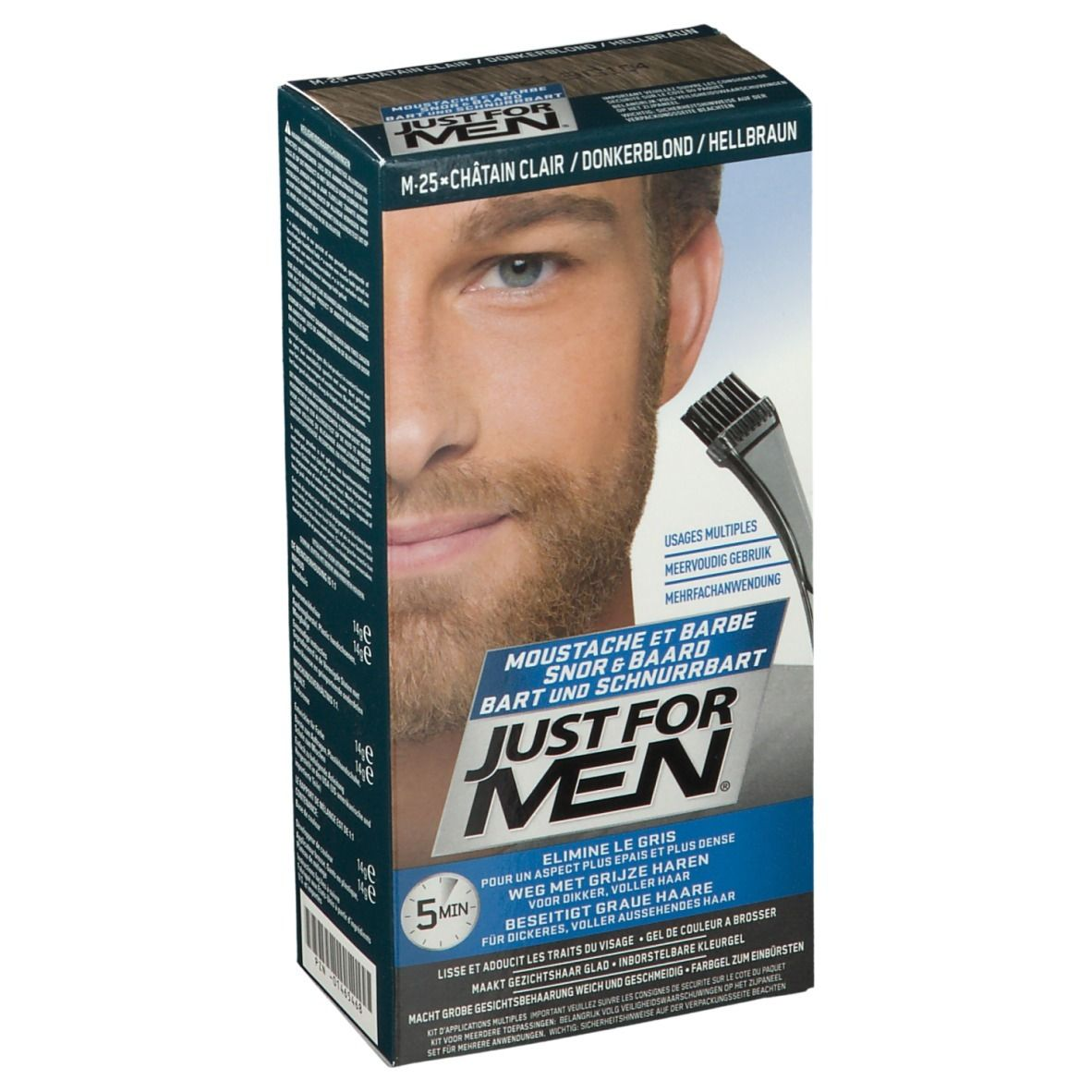 Image of JUST FOR MEN Pflege-Brush-In-Color-Gel hellbraun