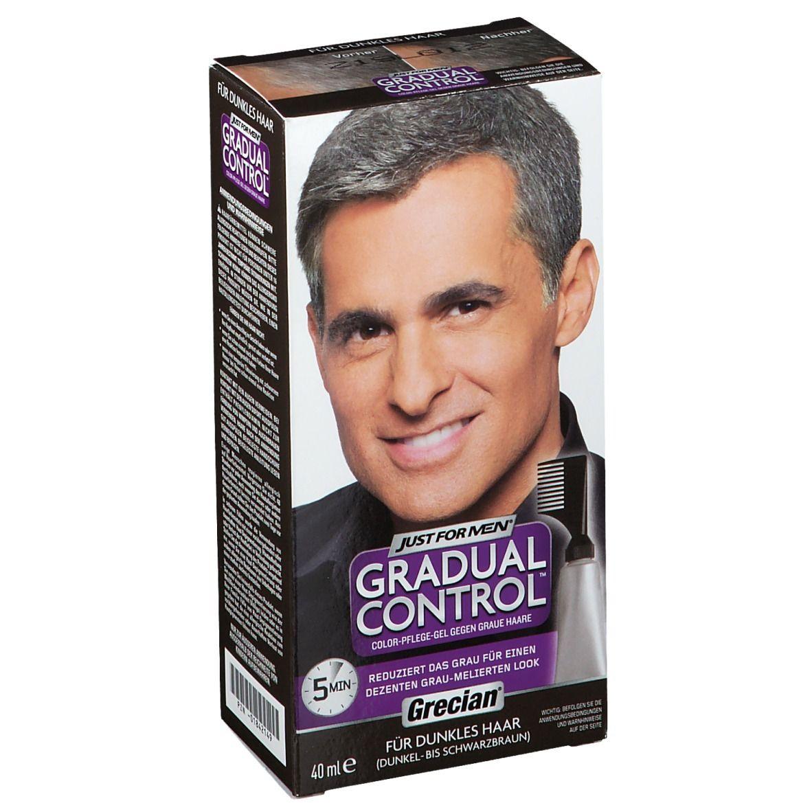 Image of GRECIAN Gradual Control Color-Pflege-Gel dunkles Haar