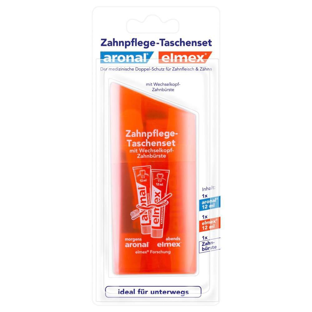 Image of aronal® und elmex® Zahnpflege Taschenset Blisterpackung