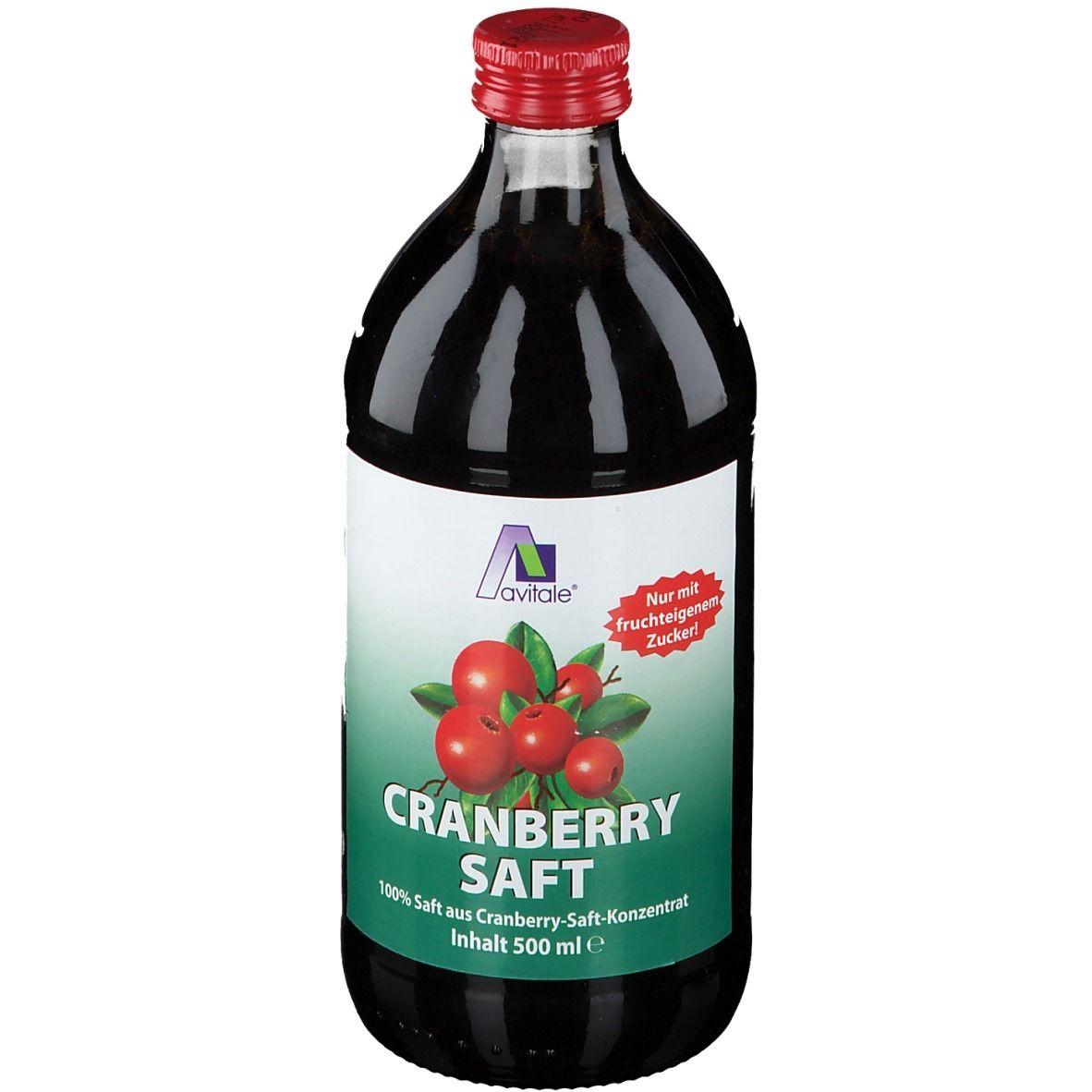 Image of Avitale Cranberry Saft 100% Frucht