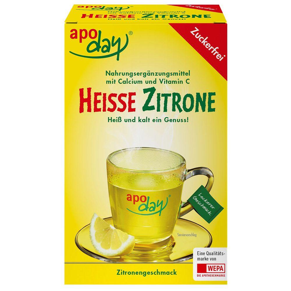 Image of apoday® Heisse Zitrone Vitamin C und Calcium zuckerfrei Pulver