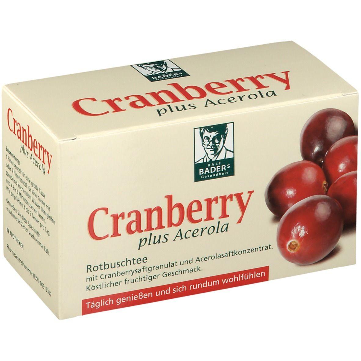 Image of BADERs Cranberry Acerola Filterbeutel