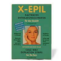 Image of X Epilier-Kaltwachsstreifen für das Gesicht