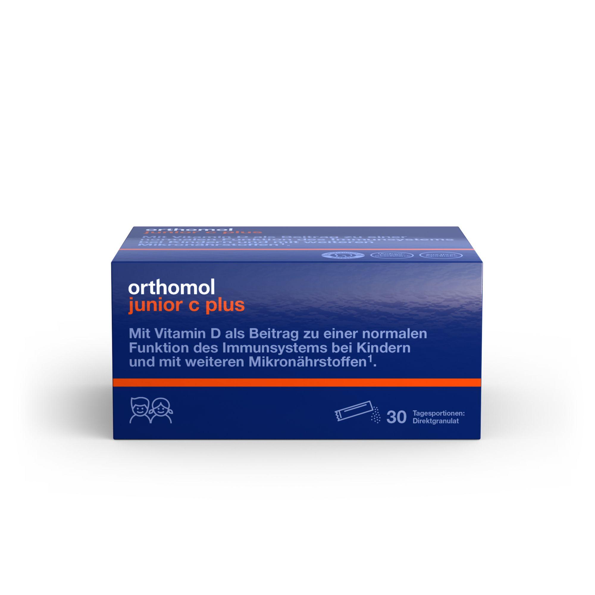 Image of Orthomol junior C plus Granulat Himbeer/Limette