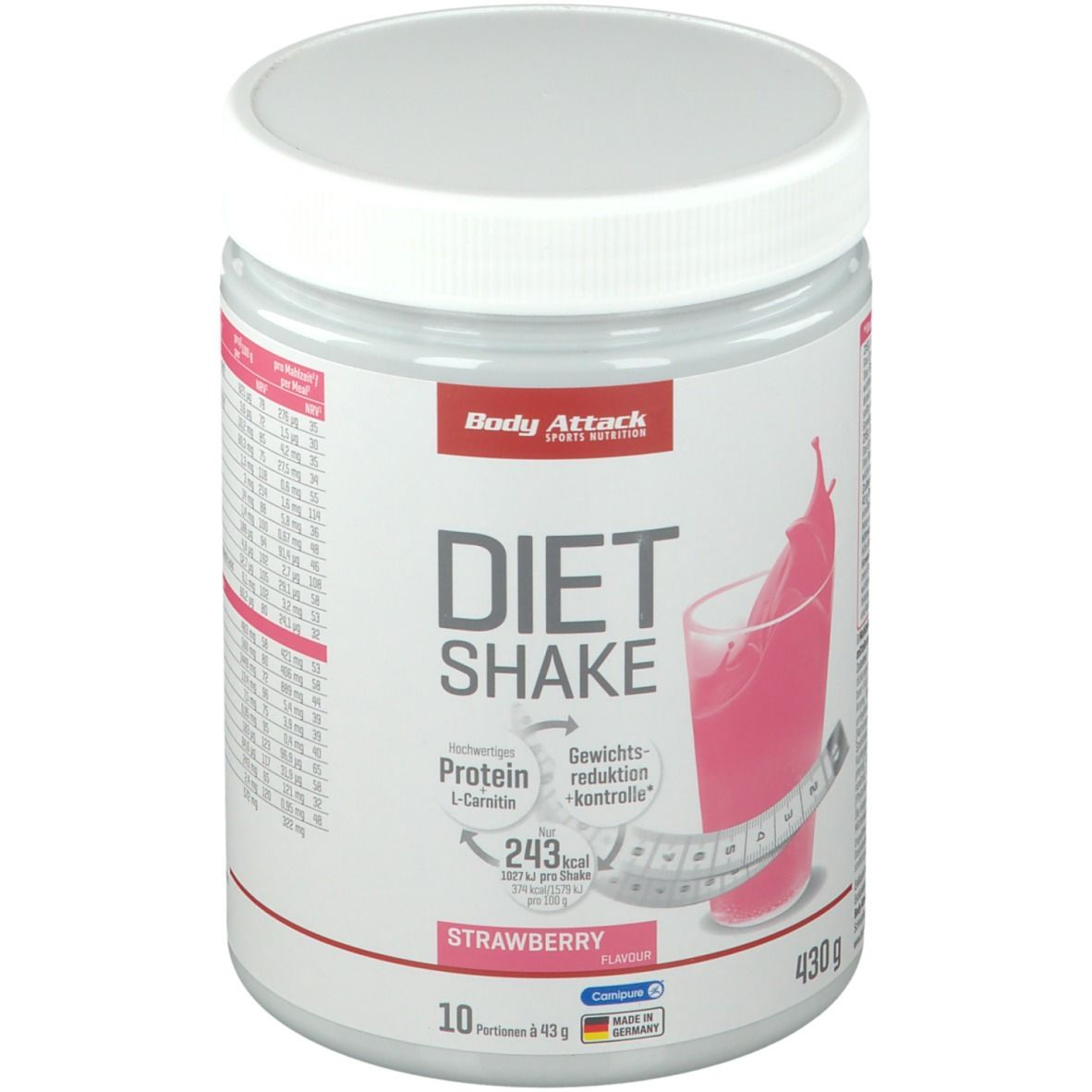 Body Attack Diät Shake Erdbeer