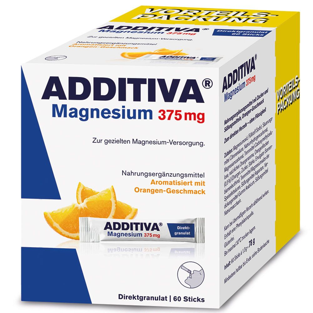 Image of ADDITIVA® Magnesium 375 mg Direktgranulat Orange