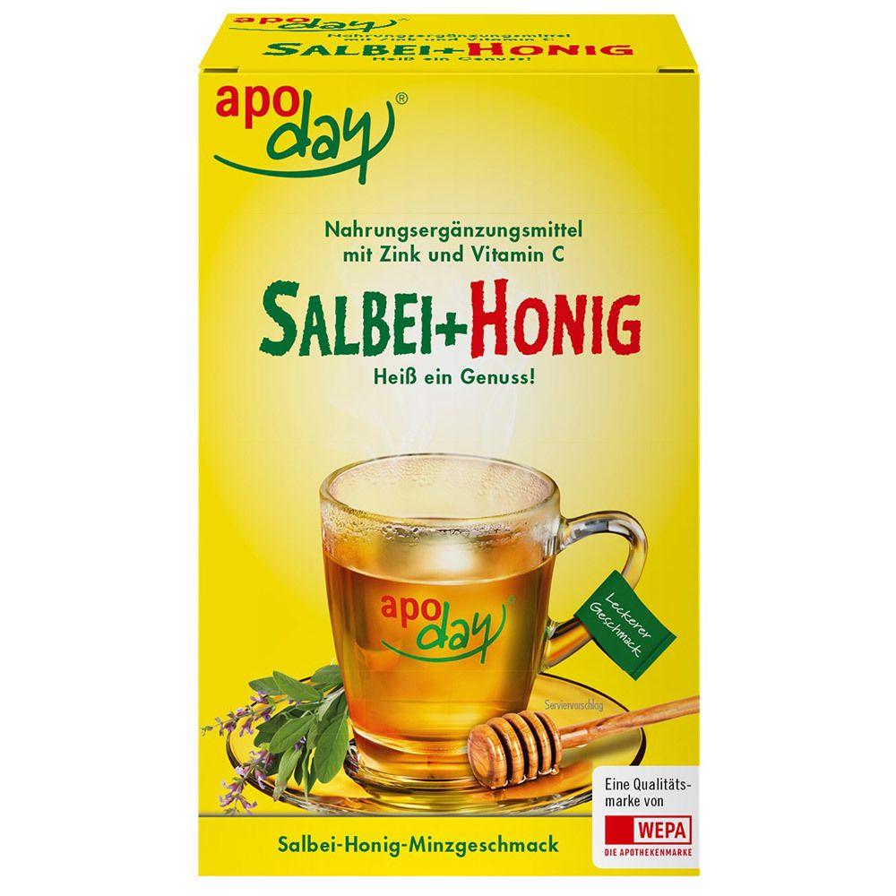 Image of apoday® Salbei+ Honig mit Vitamin C + Zink