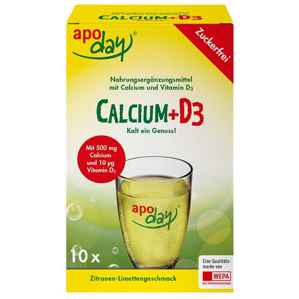 Image of apoday® Calcium + D3 Zitrone Limette zuckerfrei