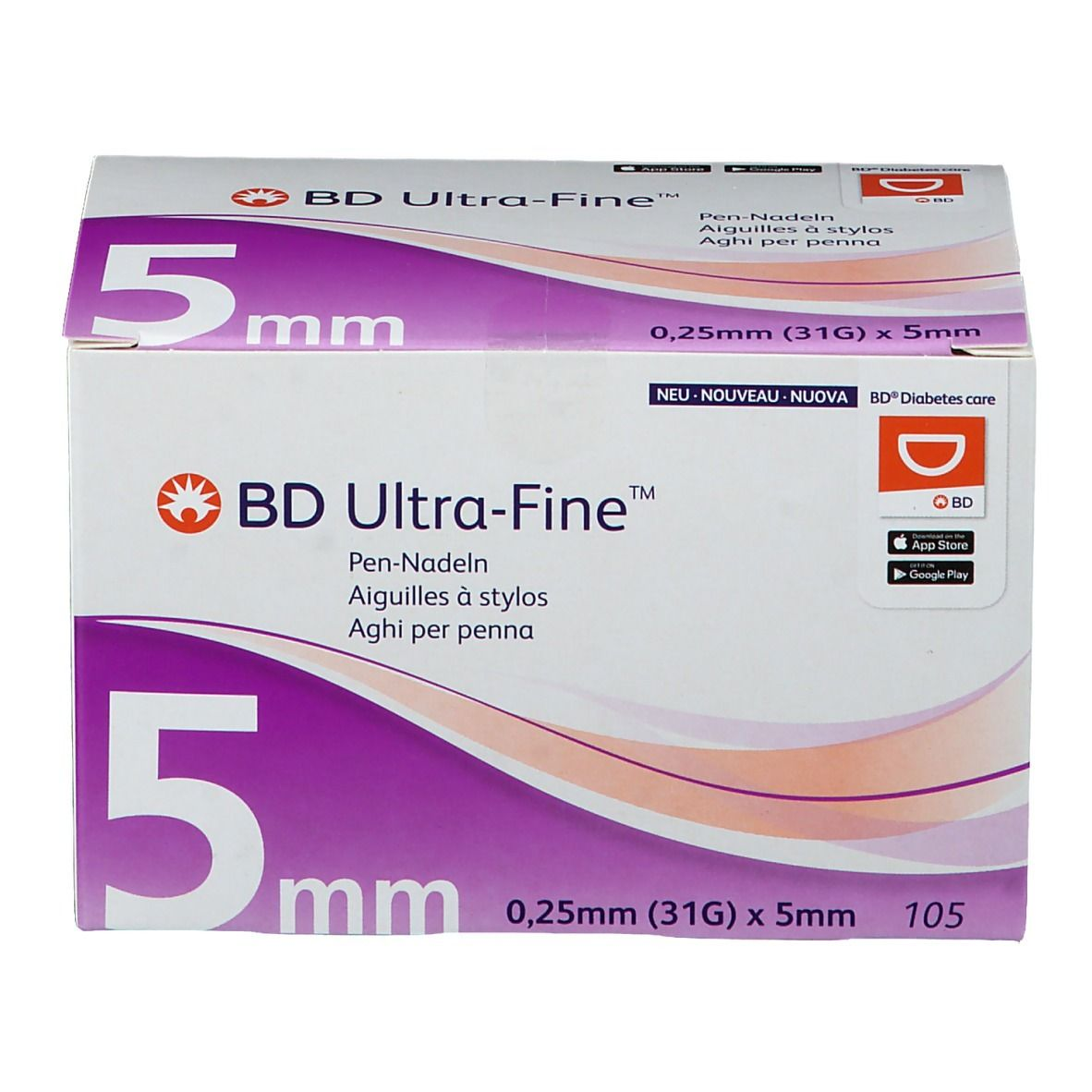 Image of BD Ultra-Fine™ 5 mm 31G x 5 mm