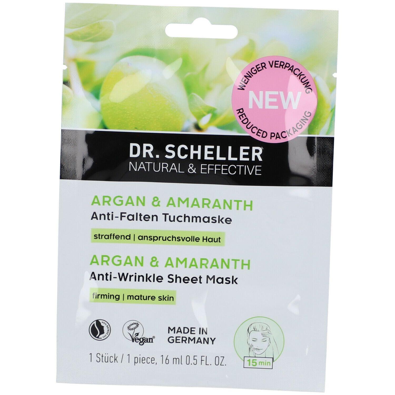 Image of DR. SCHELLER Argan und Amaranth Anti-Falten Tuchmaske