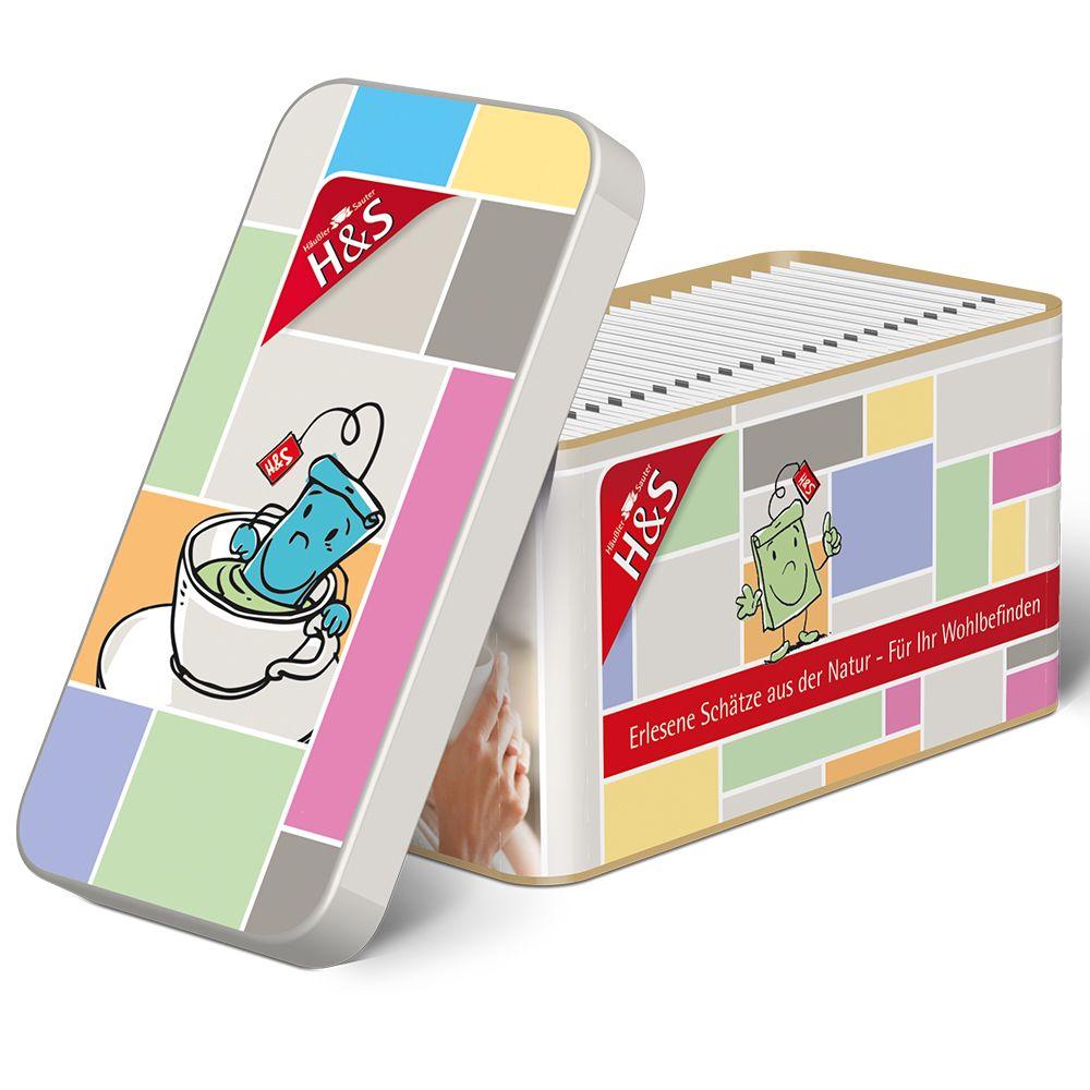 Image of H&S Wohlfühltee Dose mit 24 Teebeuteln