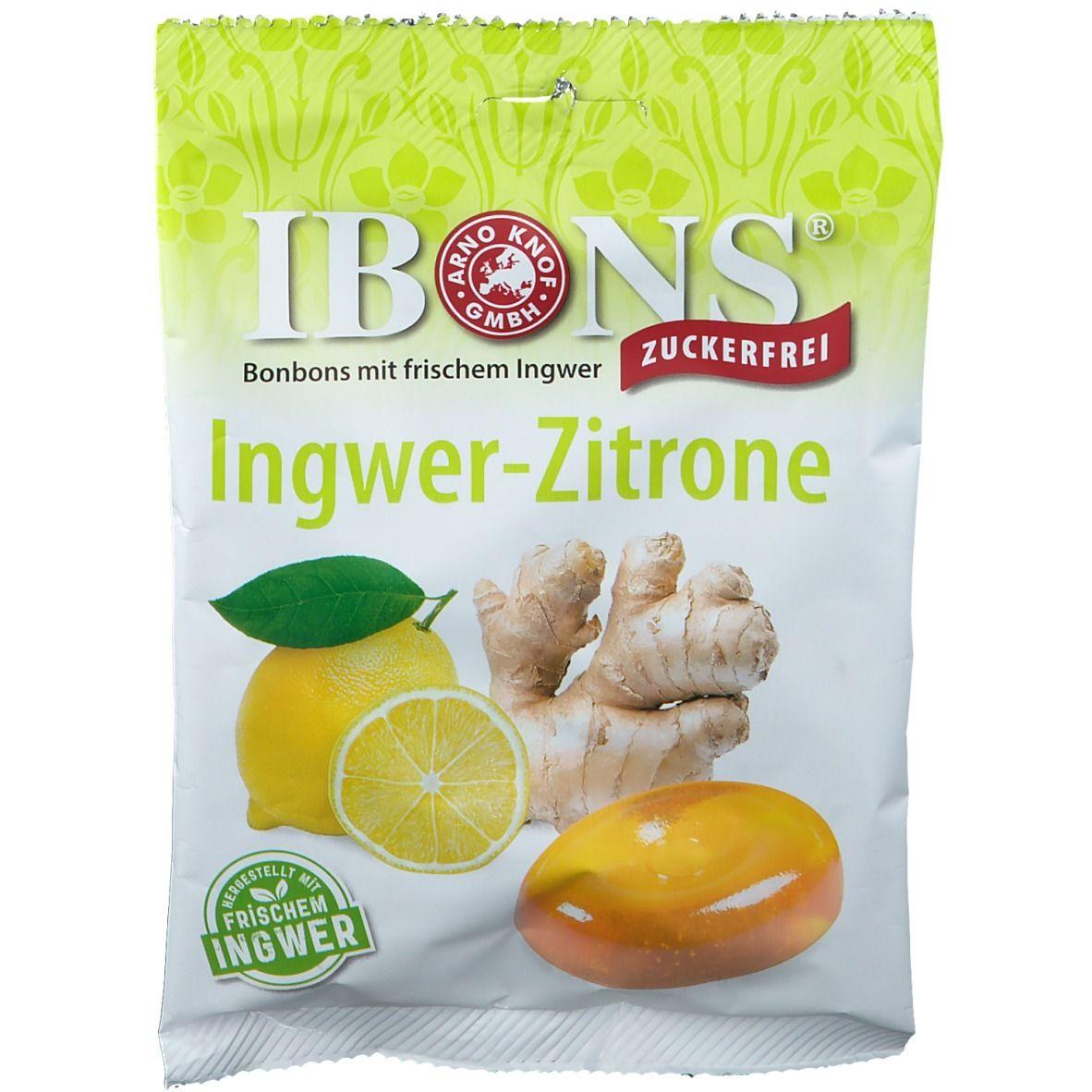 Image of IBONS® Ingwer-Zitrone zuckerfrei